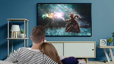 Wirelessly cast media content on 4k UHD HDR TVs and multi-channel sound systems for the best audio-visual experience with your family or significant others.